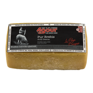 Brick of sheep cheese