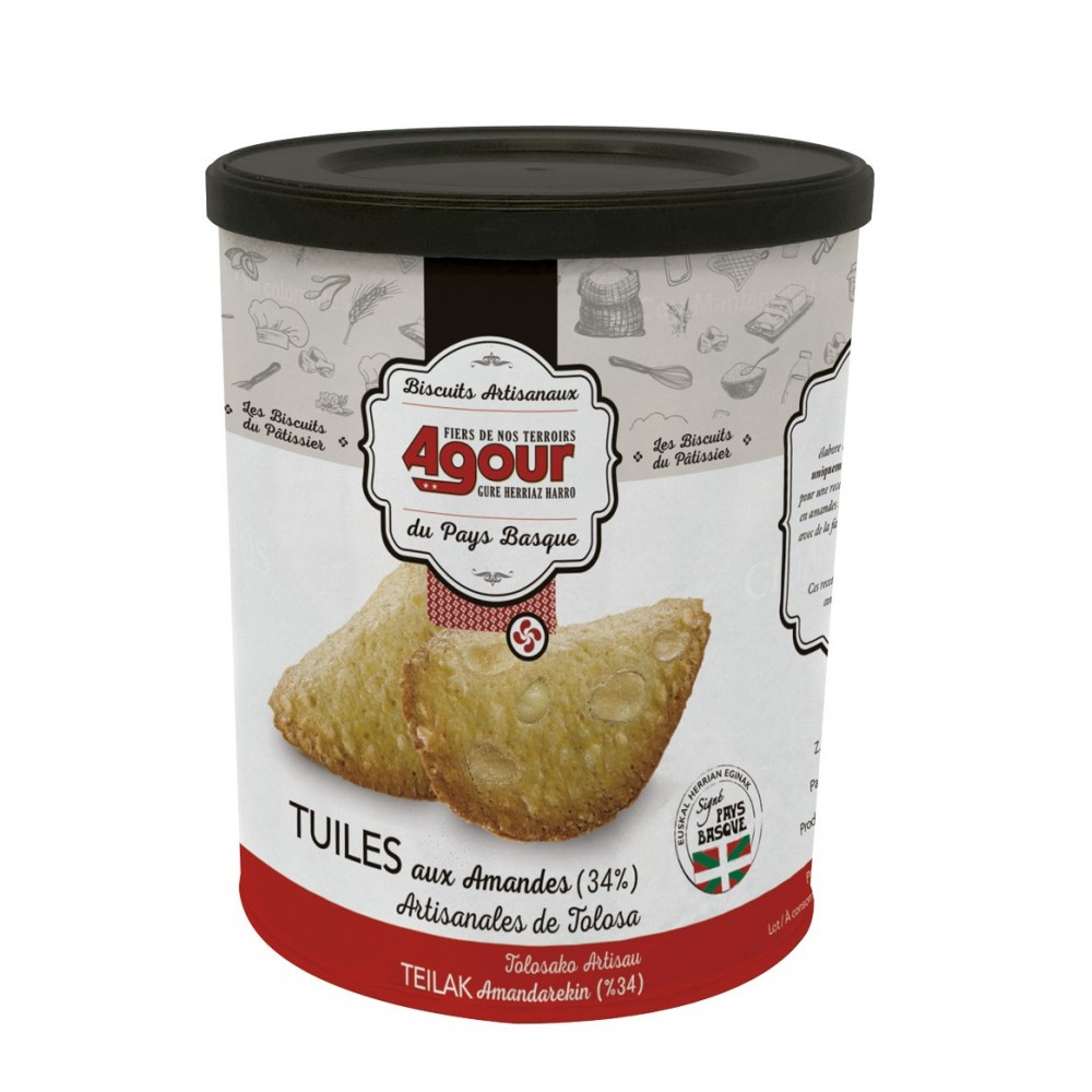 Biscuits Basques Tuiles aux amandes