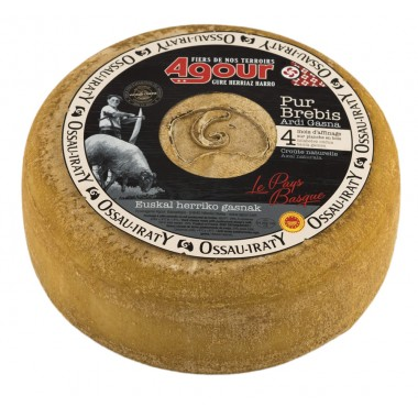 AOP Ossau Iraty sheep cheese 4 months large tome
