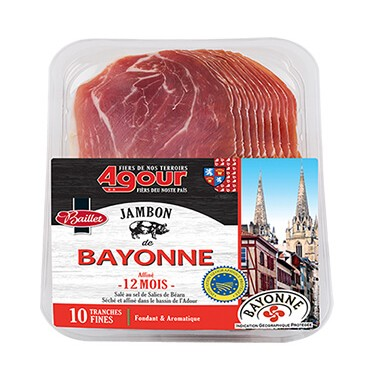 10 thin slices of Bayonne ham