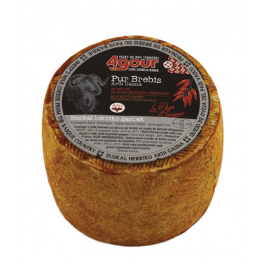 """""""Petit Agour"""" sheep cheese with Espelette pepper paste"""